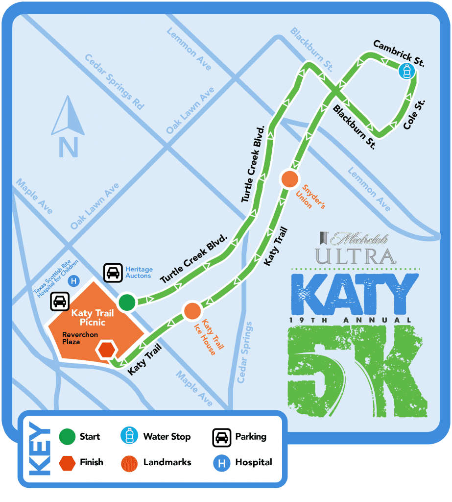 K Katy Trail - Us track and field map my run
